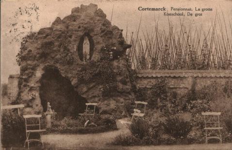 Cortemarck - Kostschool (stempel 1926)